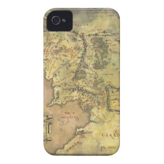Middle Earth Map Case-Mate iPhone 4 Cases