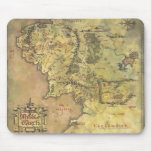 Middle Earth Map Mouse Mat