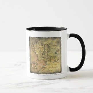 Middle Earth Map Mug