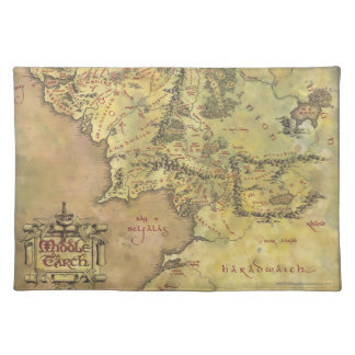 Middle Earth Map Placemat