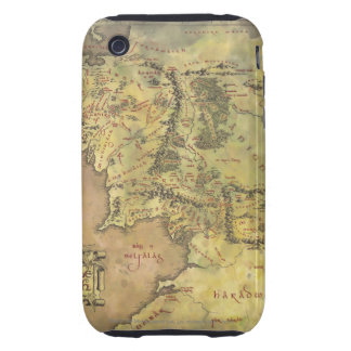Middle Earth Map Tough iPhone 3 Covers
