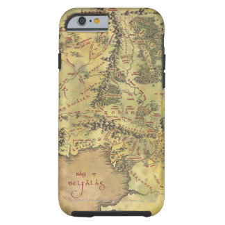 Middle Earth Map Tough iPhone 6 Case