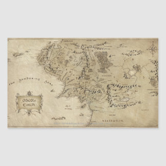 MIDDLE EARTH™ RECTANGULAR STICKER