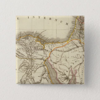 Middle East atlas map 15 Cm Square Badge