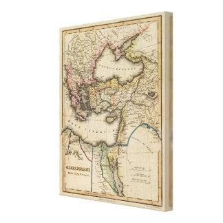 Middle East Atlas Map 2 Canvas Print
