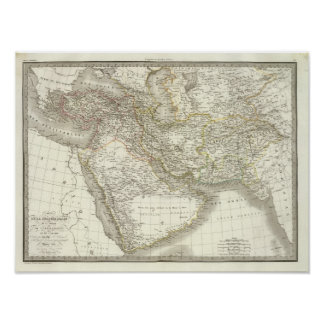 Middle East Atlas Map 2 Poster