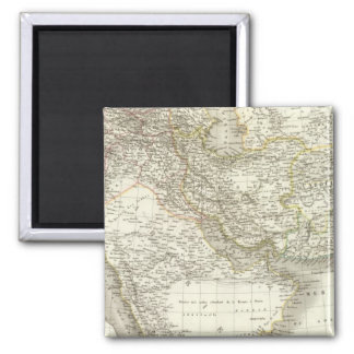 Middle East Atlas Map 2 Square Magnet