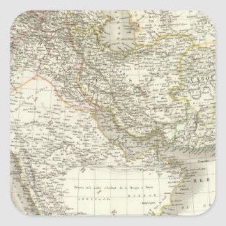 Middle East Atlas Map 2 Square Sticker
