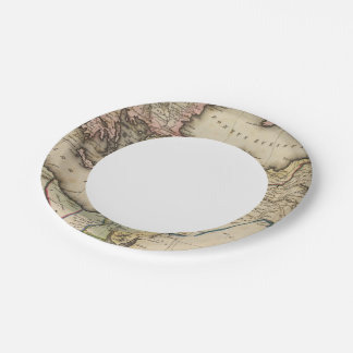Middle East Atlas Map 7 Inch Paper Plate