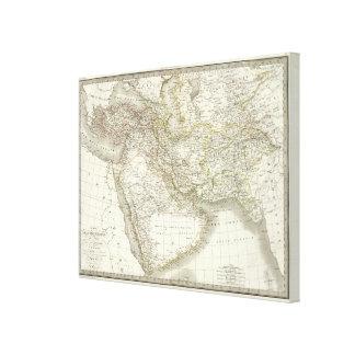 Middle East Atlas Map Canvas Print