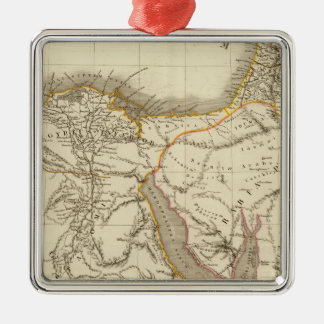 Middle East atlas map Christmas Ornament