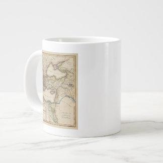 Middle East Atlas Map Large Coffee Mug