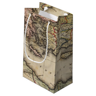 Middle East Atlas Map Small Gift Bag