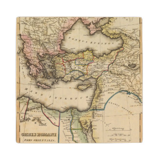 Middle East Atlas Map Wood Coaster