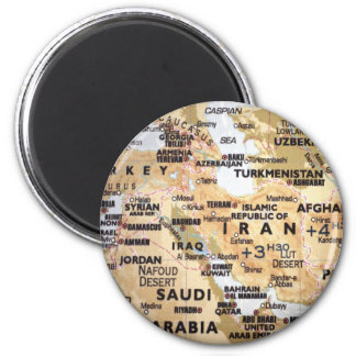 Middle East Map Magnet