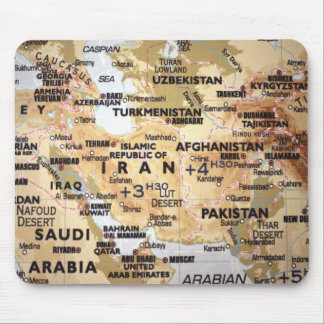 Middle East Map Mousepad