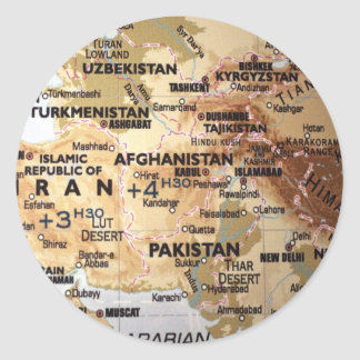 Middle East Map Stickers