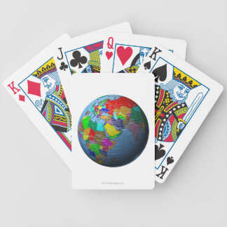 Middle East on Globe Bicycle Playing Cards