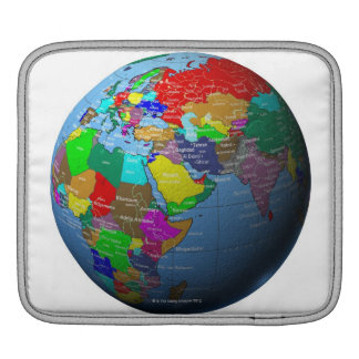 Middle East on Globe iPad Sleeve