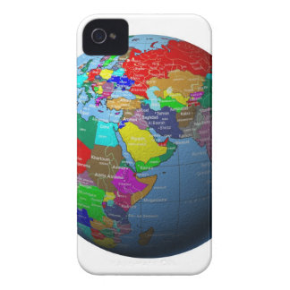 Middle East on Globe iPhone 4 Cover