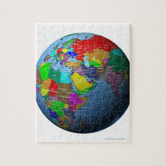 Middle East on Globe Jigsaw Puzzle