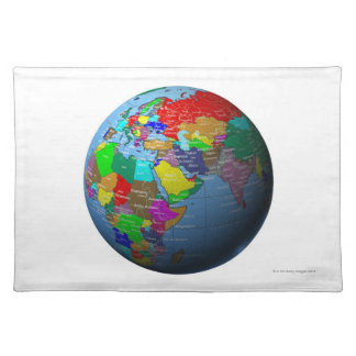 Middle East on Globe Placemat