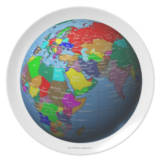 Middle East on Globe Plate