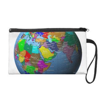 Middle East on Globe Wristlet
