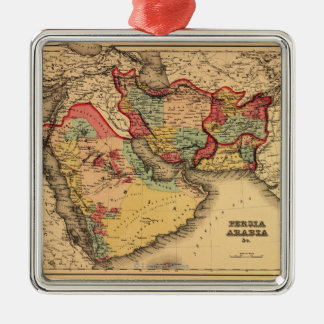 """Middle East """"Persia Arabia""""Panoramic Map Christmas Ornament"""
