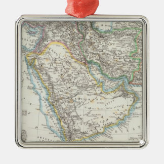 Middle East, South Asia Silver-Colored Square Decoration
