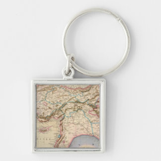 Middle East, Turkey, Syria, Asia Silver-Colored Square Key Ring