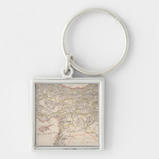 Middle East, Turkey, Syria Silver-Colored Square Key Ring