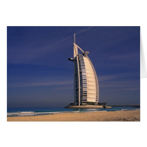 Middle East, United Arab Emirates, Dubai, Burj Greeting Card