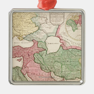 Middle EastPanoramic MapMiddle East Christmas Ornament
