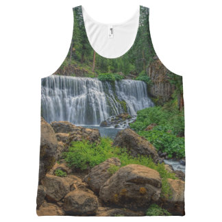 MIDDLE FALLS ON THE McCLOUD All-Over Print Tank Top