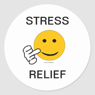 Middle Finger Stress Relief Sticker