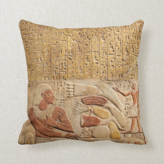 Middle Kingdom Ancient Egypt Hieroglyphics Throw Pillow