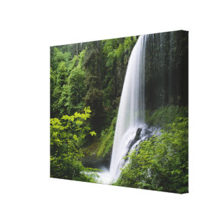 Middle North falls, Silver Falls State Park, Canvas Print