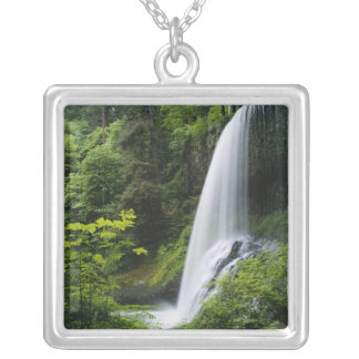 Middle North falls, Silver Falls State Park, Silver Plated Necklace