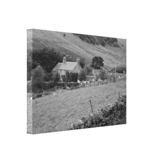 """Middle-of-nowhere Farmhouse"" Canvas Print"