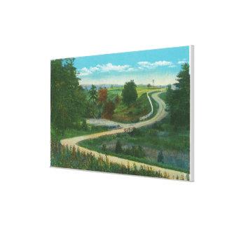 Middle Ravine View of Saratoga Battlefield Canvas Print