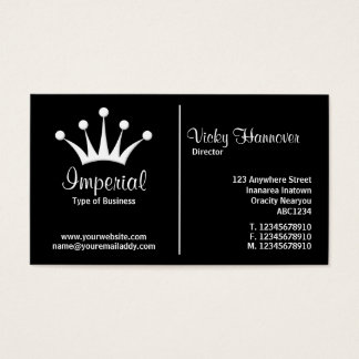 Middle Rule (Crown) - Black Business Card