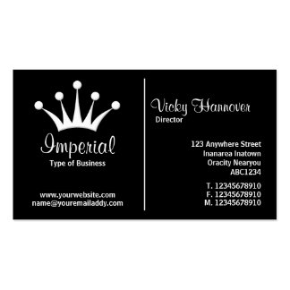 Middle Rule (Crown) - Black Pack Of Standard Business Cards