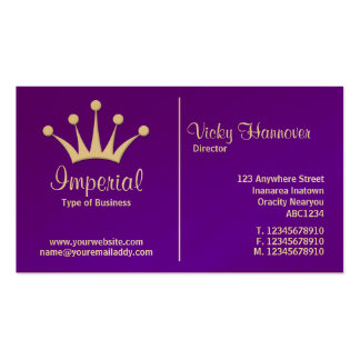 Middle Rule (Crown) - Purple 6600CC (Gold) Pack Of Standard Business Cards