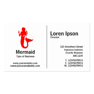 Middle Rule - Mermaid Pack Of Standard Business Cards