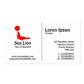 Middle Rule - Sea Lion Pack Of Standard Business Cards