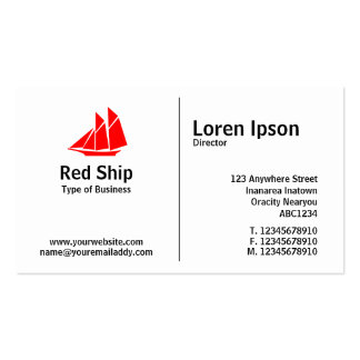 Middle Rule - Ship 02 Pack Of Standard Business Cards