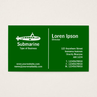 Middle Rule - Submarine - Grass Green Business Card