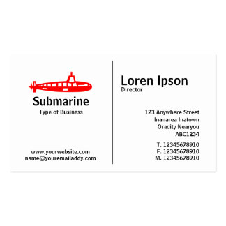 Middle Rule - Submarine Pack Of Standard Business Cards