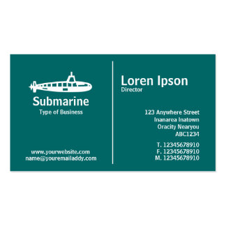 Middle Rule - Submarine - Teal Pack Of Standard Business Cards